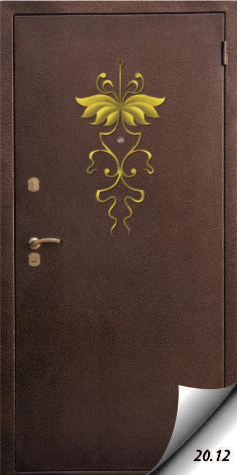 художественная отделка металлической двери